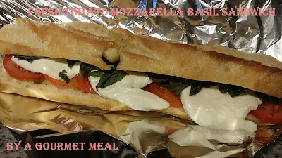 Fresh Tomato, Mozzarella and Basil Sandwich