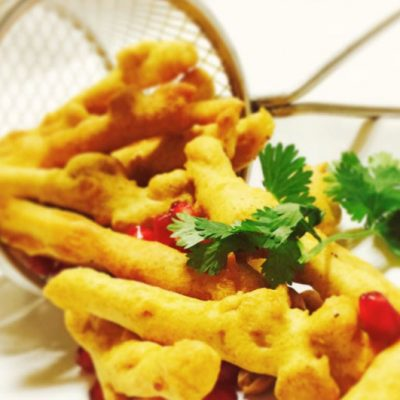 Crispy Potato & Peanut Fritters