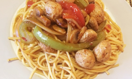 Recipe : Veg Noodles with Soya Chunks
