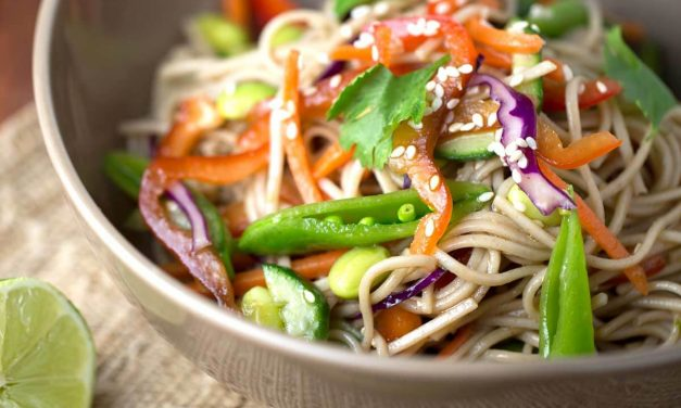 Recipe : Citrus salad with vegetables and noodles