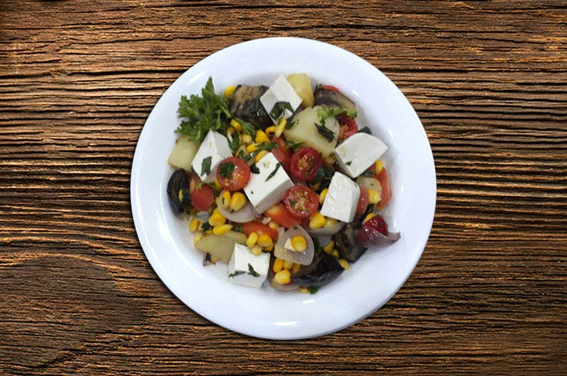 backed vegetable salad