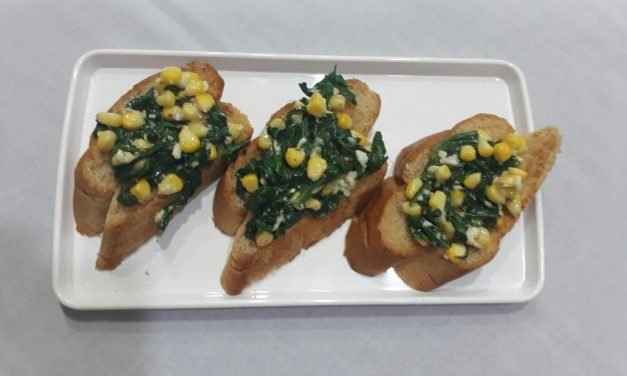 Recipe : Spinach and Corn Bruschetta