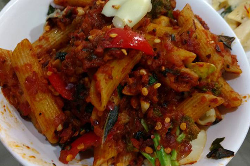 Penne Pasta with Arrabiata sauce