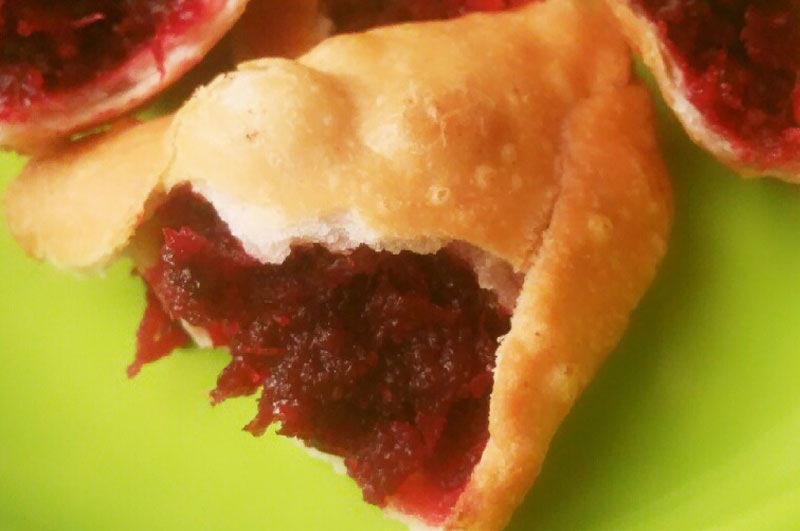 Beetroot and Rose Sweet Samosa
