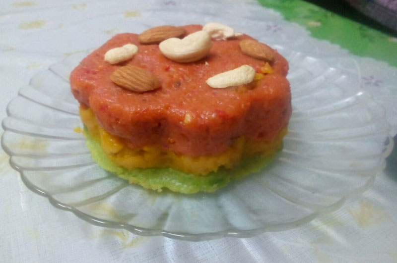 Three Pepper Halwa  ( Capsicum Halwa)