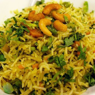 Fenugreek Peas Fried Rice (Methi Pulao)