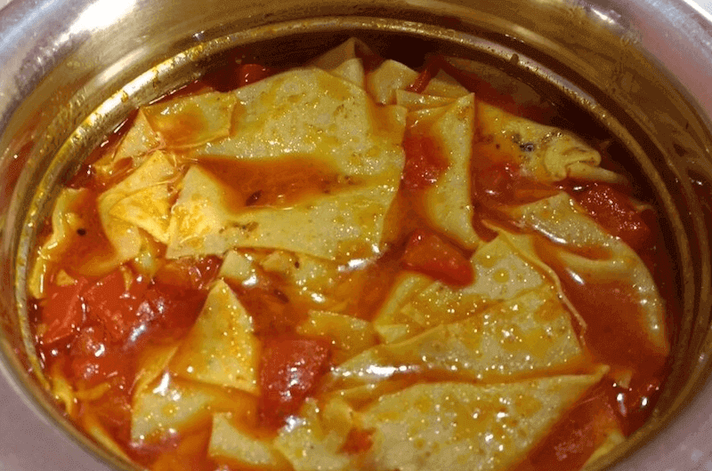 Quick Papad Sabji with Tomatoes