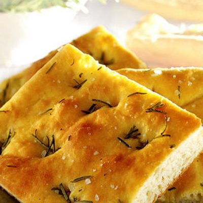 Homemade Focaccia Bread with Garlic and Herbs