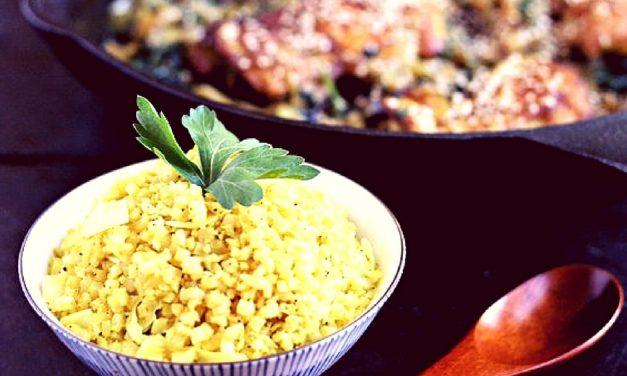 Recipe : Veg Turmeric Cauliflower Rice