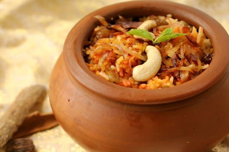 Matka Biryani ( Vegetarian Version )