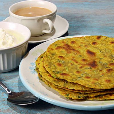 dill-leaves-flat-bread