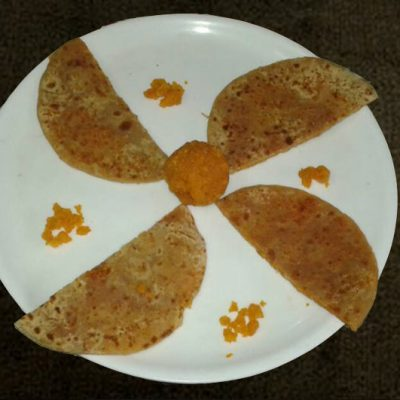 Stuffed Sweet Boondi Paratha