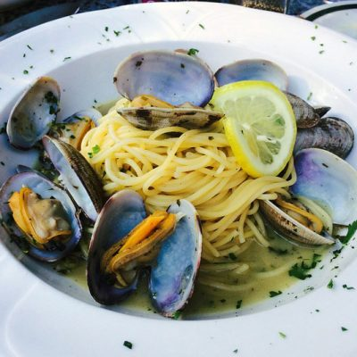 garlic chilli mussels pasta