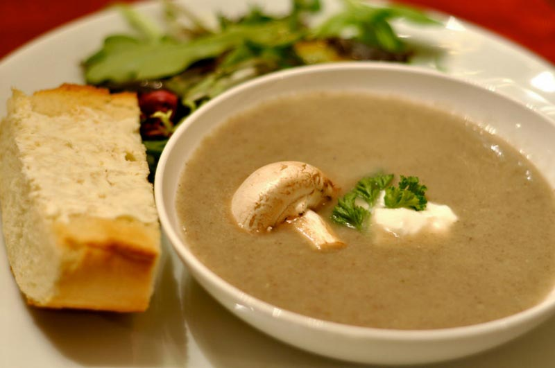 Easy and healthy vegetable soup recipe Creamy Mushroom Soup