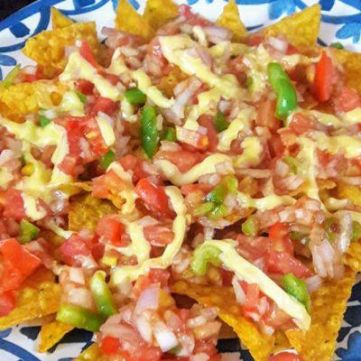 Microwave Nachos Salsa