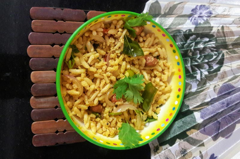 Puffed Rice Oggarane (Spicy Puffed Rice)