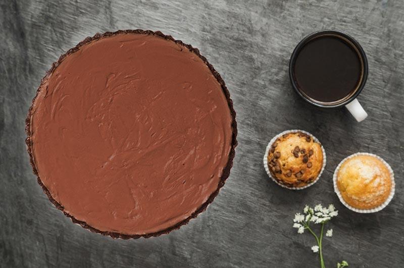 Vegan No Bake Chocolate Pie1