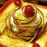 Apple Rose Peanut Butter Toast