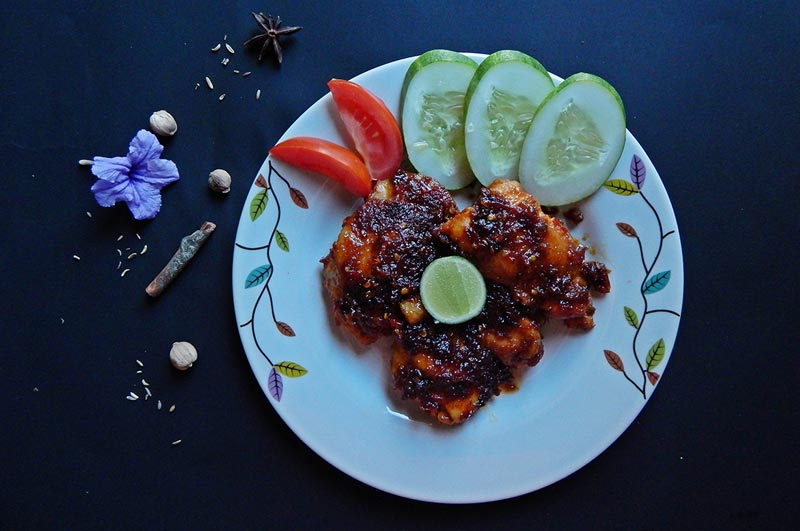 sour and spicy grilled chicken