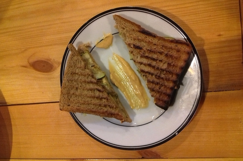 Recipe : Peanut Butter BBQ Vegetarian Sandwich