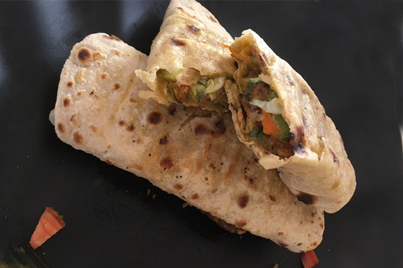 Recipe : Healthy Peanut Pumpkin Power Booster Wrap and Roll