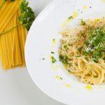 Two Cheese Garlic Spaghetti