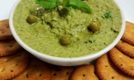 Recipe : Fresh Mint and Green Pea Hummus