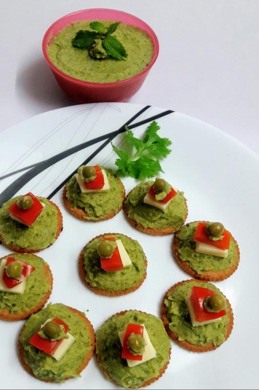 Fresh Mint and Green Pea Hummus2