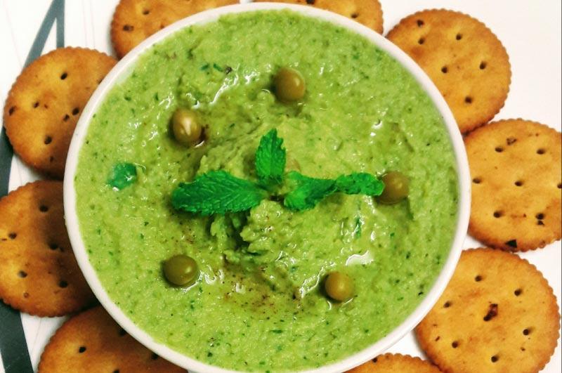 Fresh Mint and Green Pea Hummus4