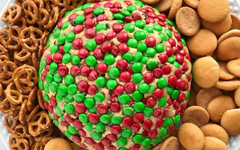 Christmas Cookie Dough Cheeseball Dip