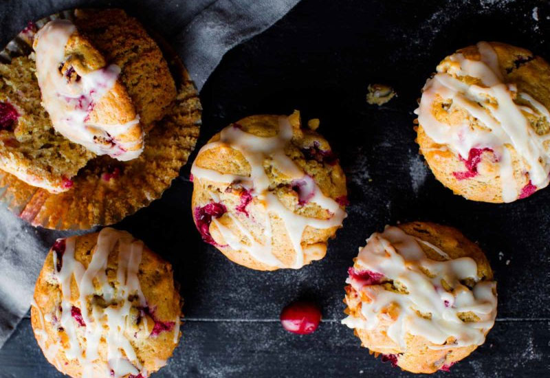 Cranberry Cardamom Spice Muffins