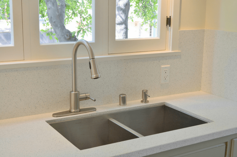 Clean the counter-tops and sinks regularly kitchen organization ideas